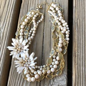 kate spade RARE Pearl Floral Mixed Media Necklace!